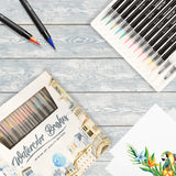 Watercolor Brush Pens Assorted Set, - Nouveau Artiste