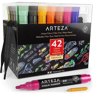 Liquid Chalk Markers - Set of 42, - Nouveau Artiste