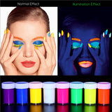 UV Glow Blacklight Face and Body Paint 8 Colors Fluorescent Pigment and 6pcs Paint Brushes, - Nouveau Artiste