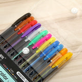 12 Colors Gel Ink Pen 1.0mm Neon Color Pen Set, - Nouveau Artiste