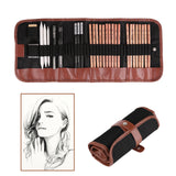 18pcs Pen Charcoal Sketch Set Sketching Pencil Set Roll Up Canvas Carry Pouch, - Nouveau Artiste