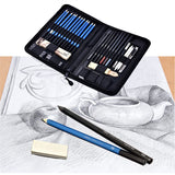 40PCS Pencil Professional Sketching Drawing Pencils Kit Set, - Nouveau Artiste
