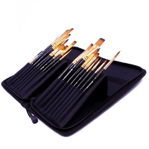 Professional Artist Paint Brush Set, - Nouveau Artiste