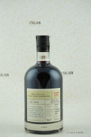 Whisky Velier 1 37 years old 70° anniversario