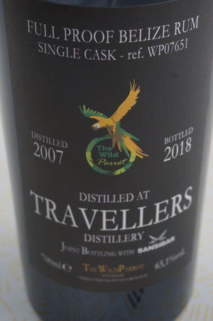 The Wild Parrot Travellers Belize Rum