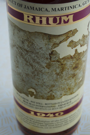 Moon Import 1940 Rum Jamaica Martinica
