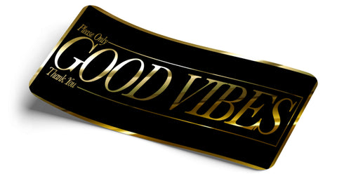 Good Vibes Only Gold Chrome Decal