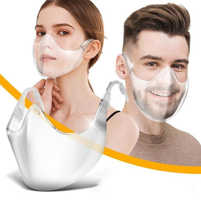 Transparent Face Protection Mask (2 Masks Per Box)