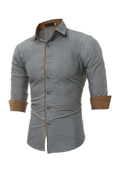 Button Down Long Sleeve Formal Shirt