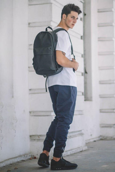 Black Lightweight Summer Backpack