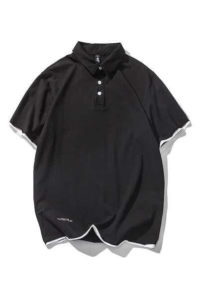 Casual Layered Polo Shirt
