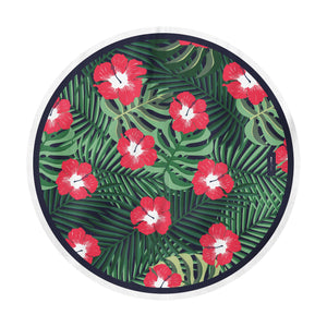 drap de plage anti sable jungle flowers