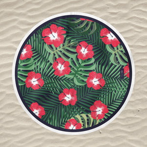 drap de plage design jungle flowers