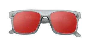 lunette soleil panama verre rouge monture transparent anti uv
