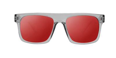 361355a83e01f6 Panama Transparent and Red sunglasses-Anti-UV lenses-Beausoleil