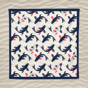 serviette plage anti sable carree koi