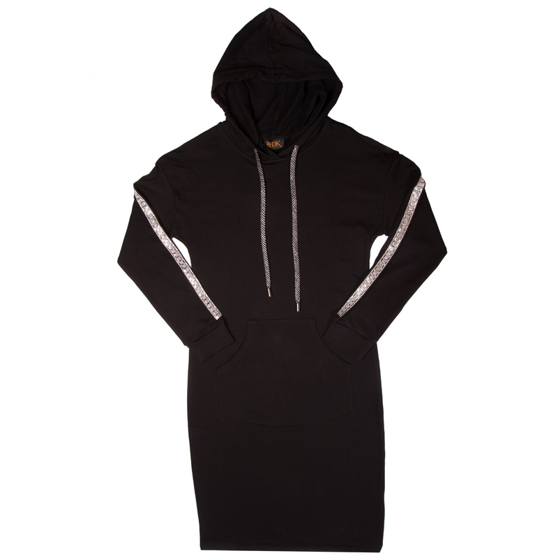 Women's Hoodie Dress with Square Sequins