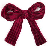 Ribbed Velvet Bow Hairclip