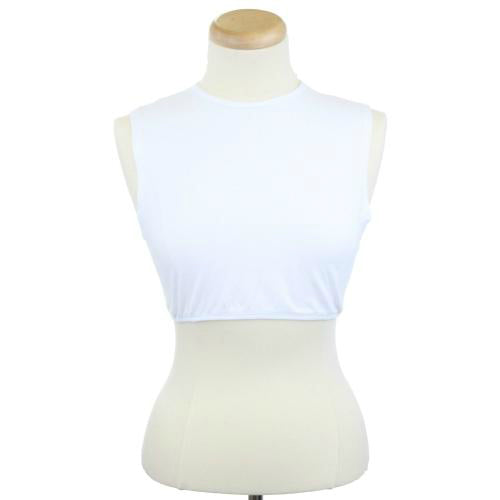 ladies womens teens layering tshirts underlayer crop top sleeveless no sleeves short