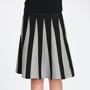 ladies striped skirt wollen knit stretch elasticated comfort style designs colours flared skater swing
