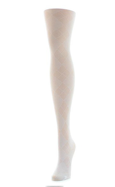 Girls Sheer Argyle Tights