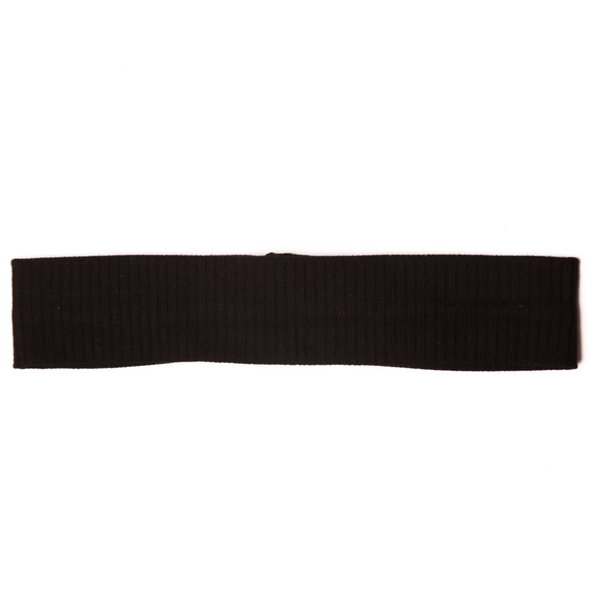 Girls Black Knot Ribbed Hairband