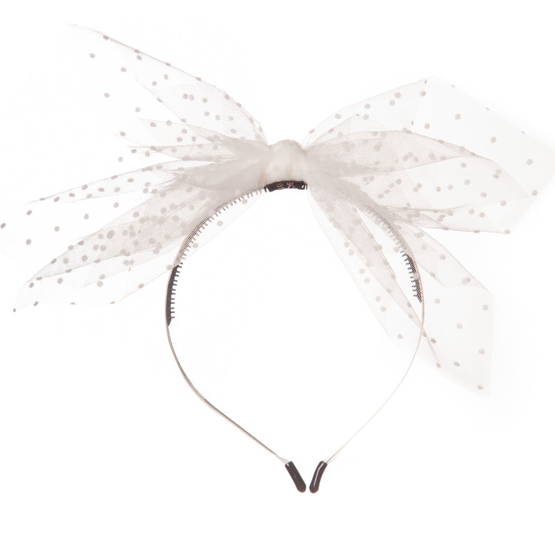 Dotted Net Bow Hairband