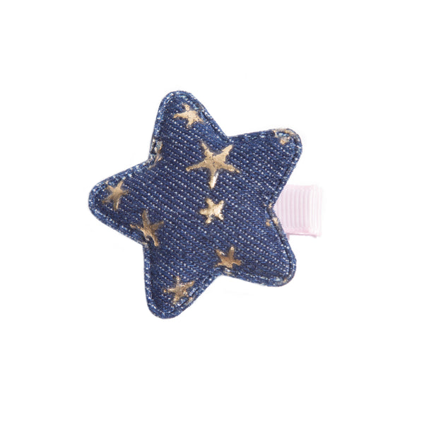 Denim Star Baby Hairclip