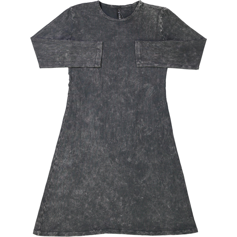 Girls Black Stonewash Dress