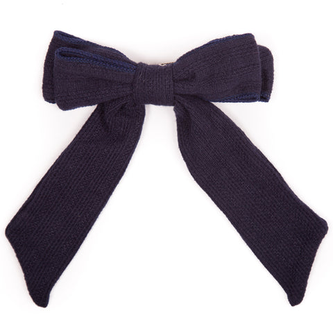 Ribbed Cotton Bow Hairclip