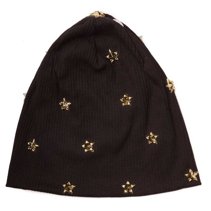 Women's Star Ribbed Beanie
