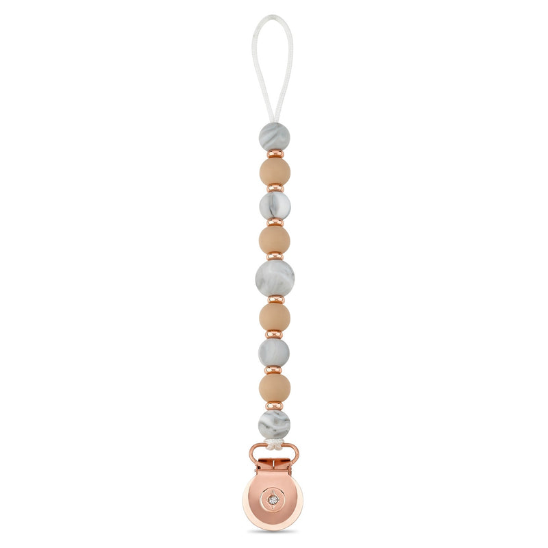 Pearly Rose Gold Dummy Clip