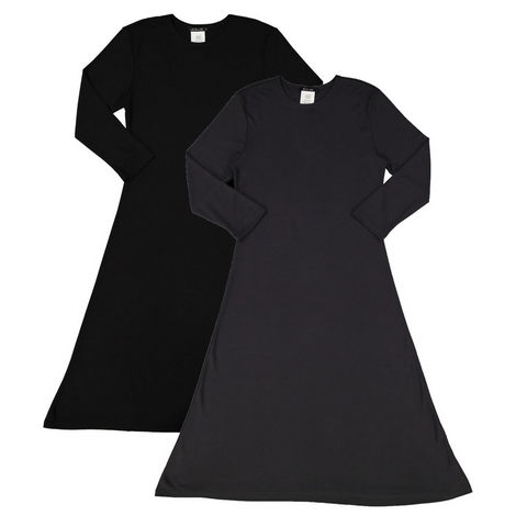 Women's Black Soft A-Line Dress