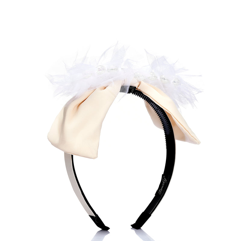 Pearl and Net Bow Hairband