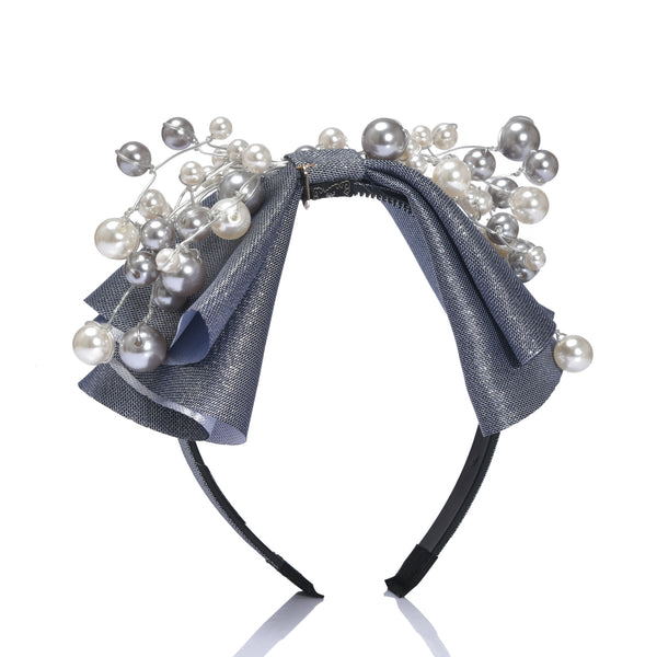 Mixed Pearl Bow Hairband