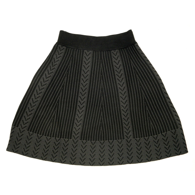 Aztec Knit Flare Skirt