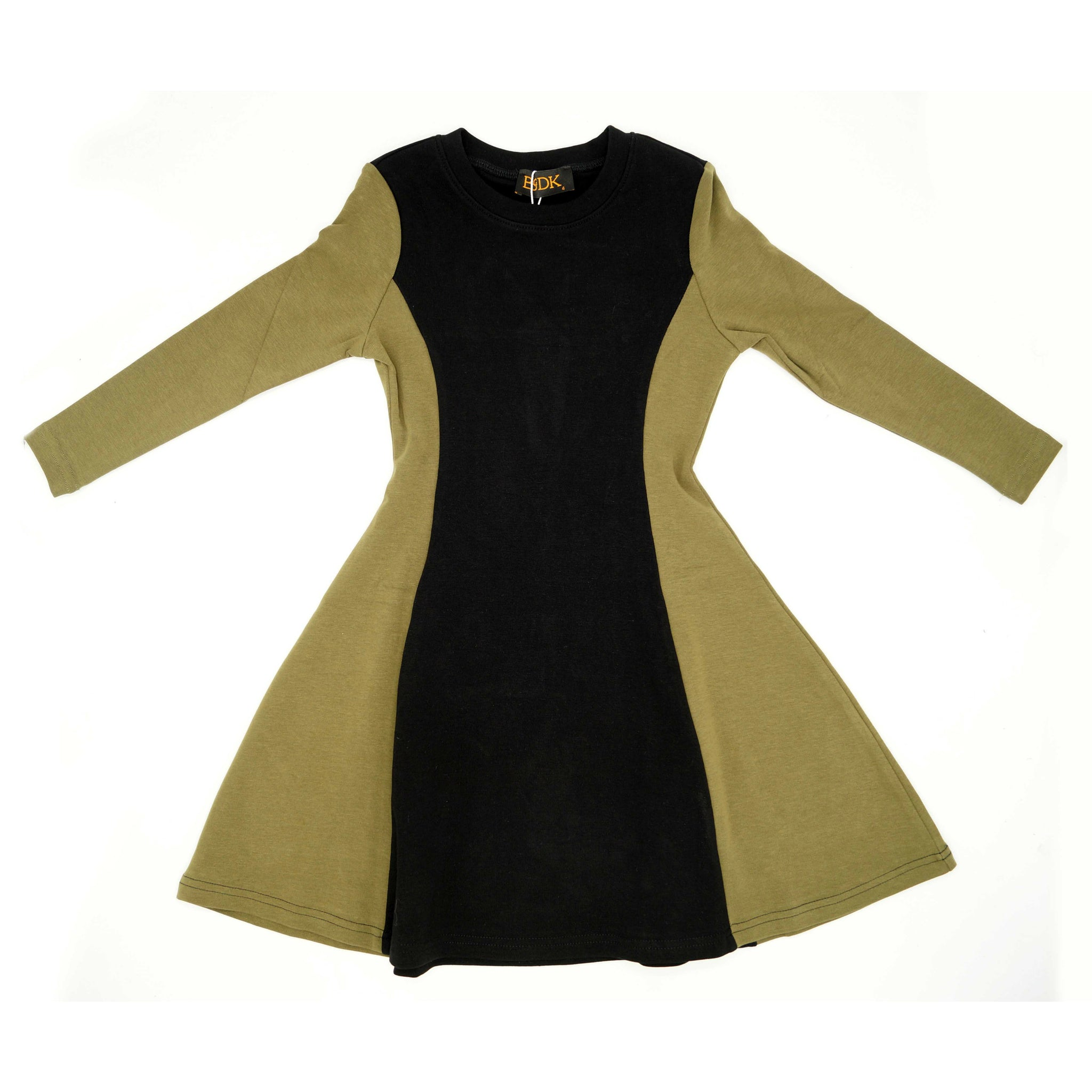 Girls Two-Tone Fit & Flare Dress