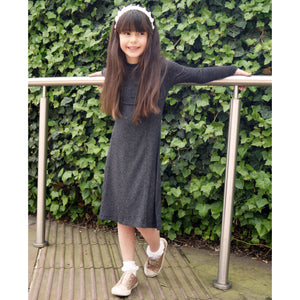 Girls Sparkle Ribbed Dress