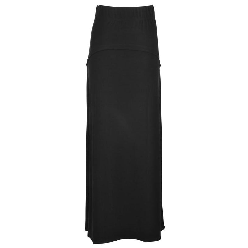 Girls Black Slinky Skirt