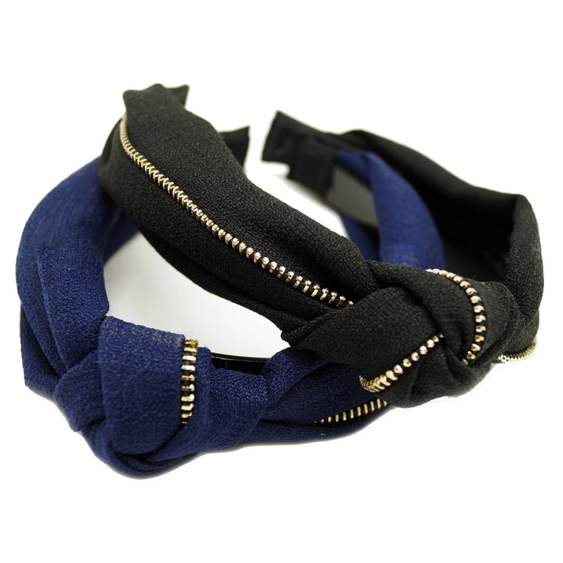 Textured Zip Knot Hairband