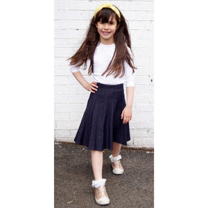 ccd932483f Girls Jersey Stretch Denim Skirt