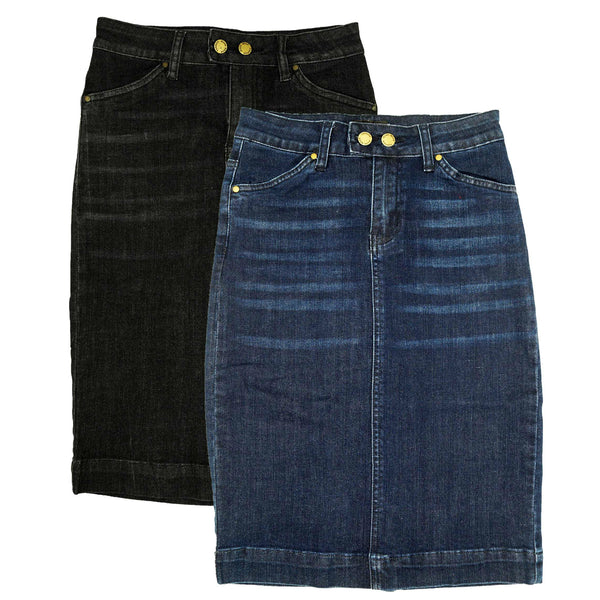 Ladies Straight Denim Skirt