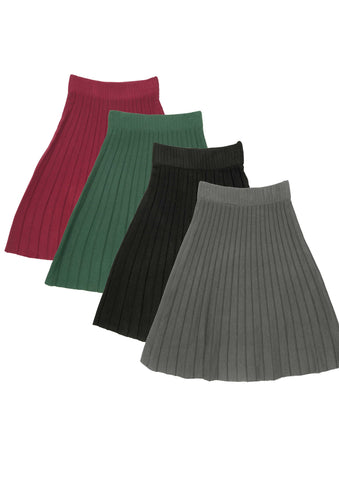 Girls Pleated Knit Skirt