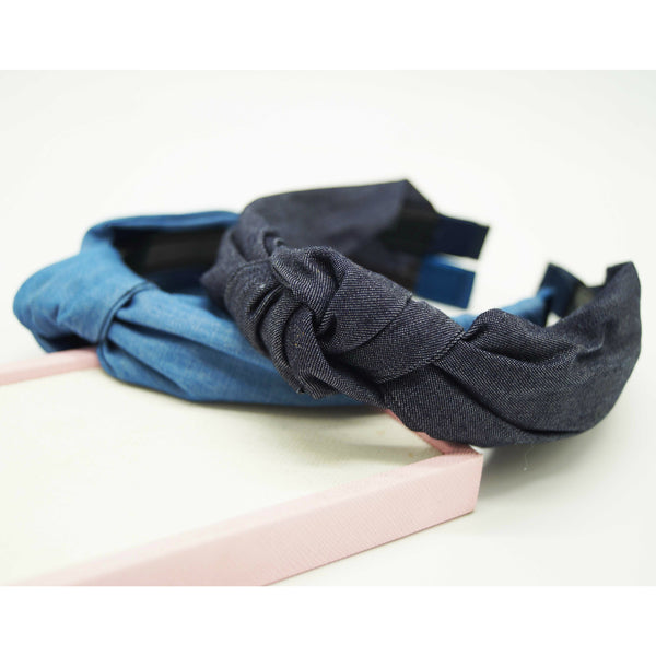 Denim Twist Knot Hairband
