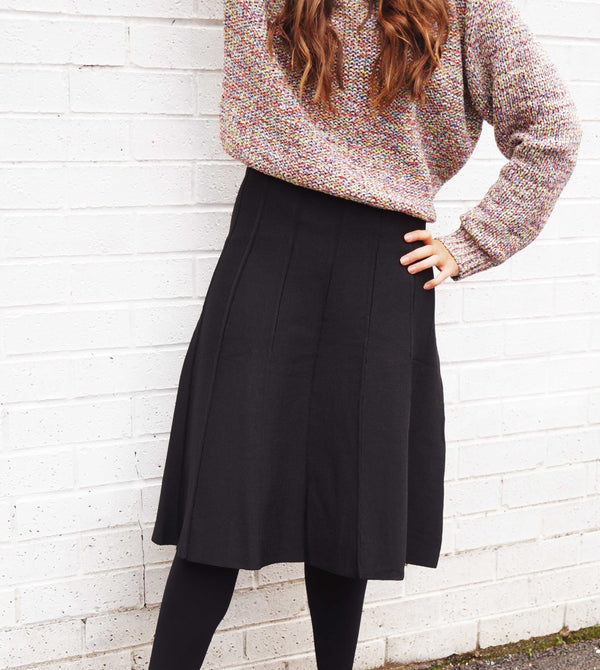 Girls Panel Knit Skirt