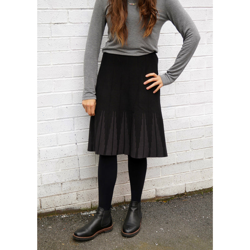 Girls Textures Line Knit Skirt