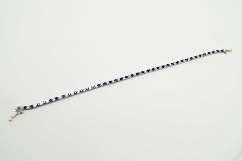 Coloured Stone Line Bracelet