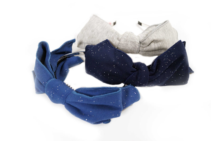 Glitter Ribbed Bow Hairband