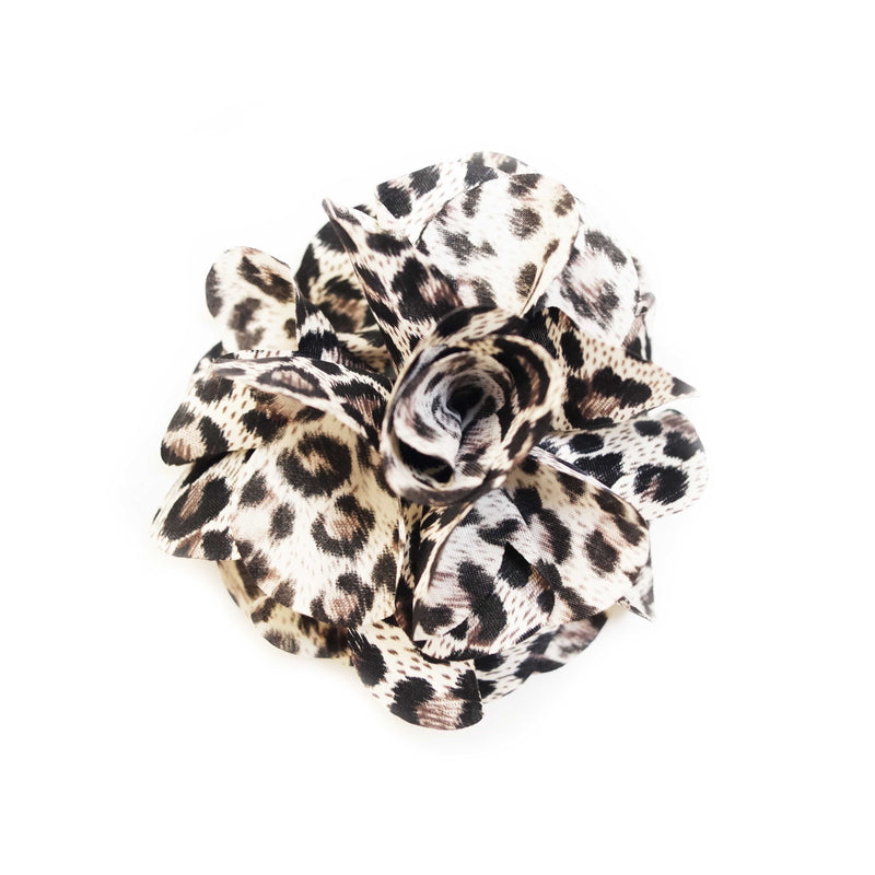 Leopard Rose Flower Clip