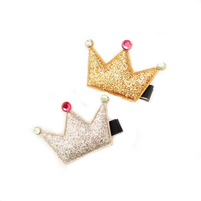Glitter Crown Clip